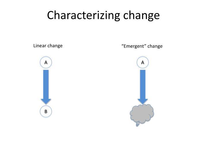Characterizing change