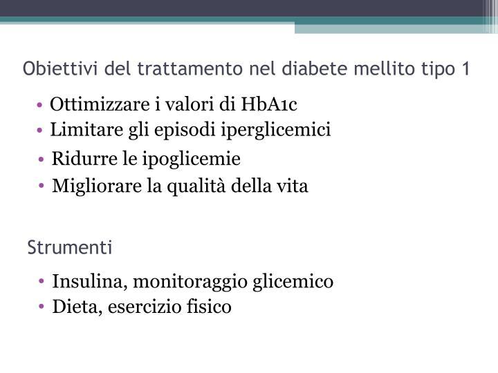 Obiettivi del trattamento nel diabete mellito tipo 1