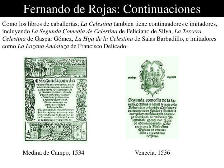 Fernando de Rojas: Continuaciones