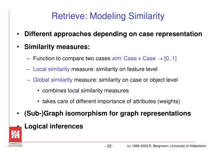 Retrieve: Modeling Similarity