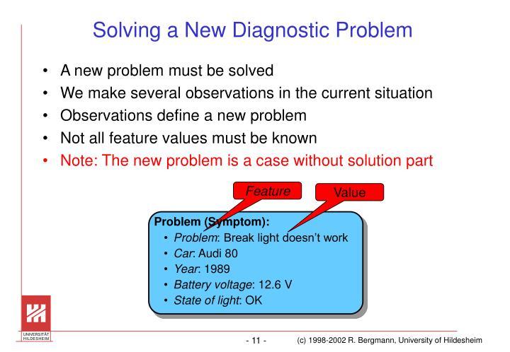 Solving a New Diagnostic Problem