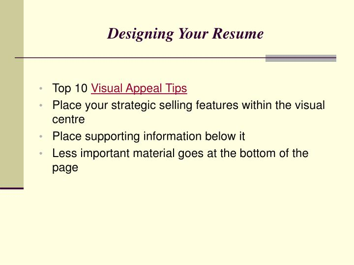 Designing Your Resume