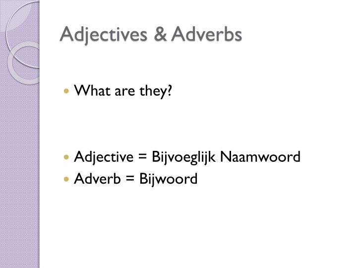 Adjectives adverbs1