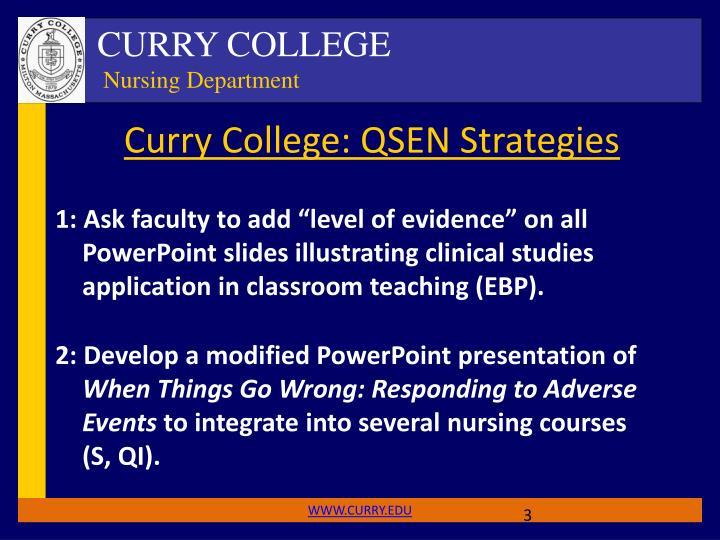 Curry College: QSEN Strategies