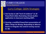 curry college qsen strategies