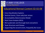 educational retreat content 02 02 08