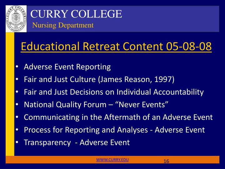 Educational Retreat Content 05-08-08