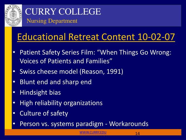 Educational Retreat Content 10-02-07