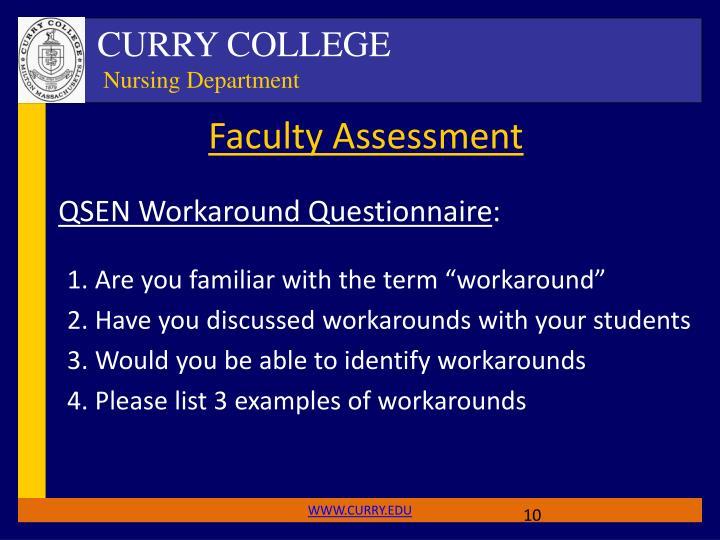 Faculty Assessment
