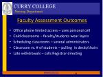 faculty assessment outcomes