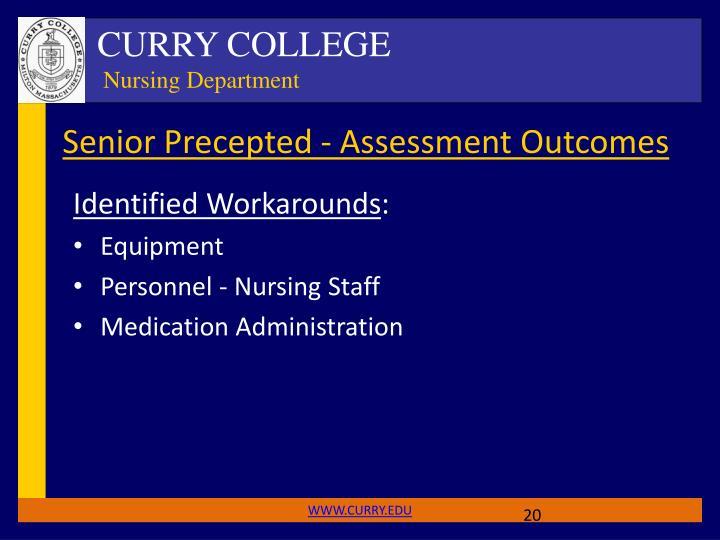 Senior Precepted - Assessment Outcomes
