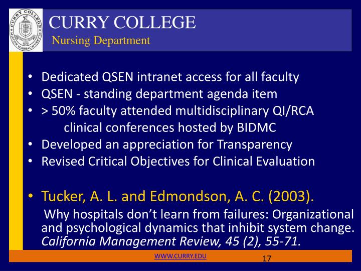 Dedicated QSEN intranet access for all faculty