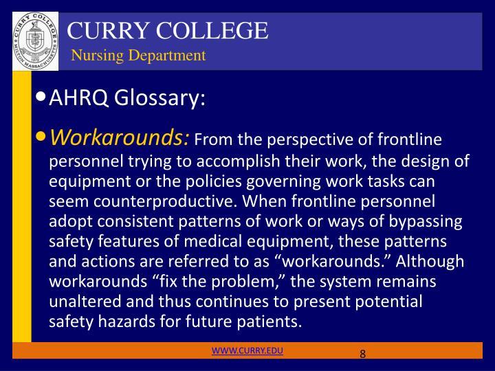 AHRQ Glossary: