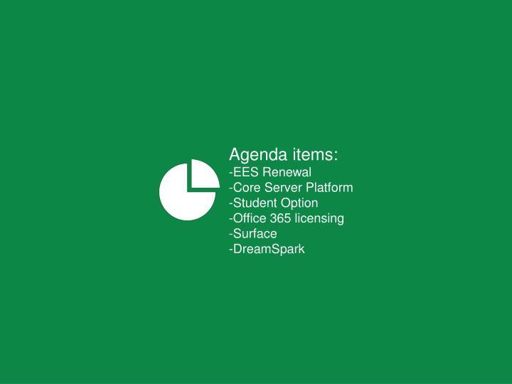 Agenda items: