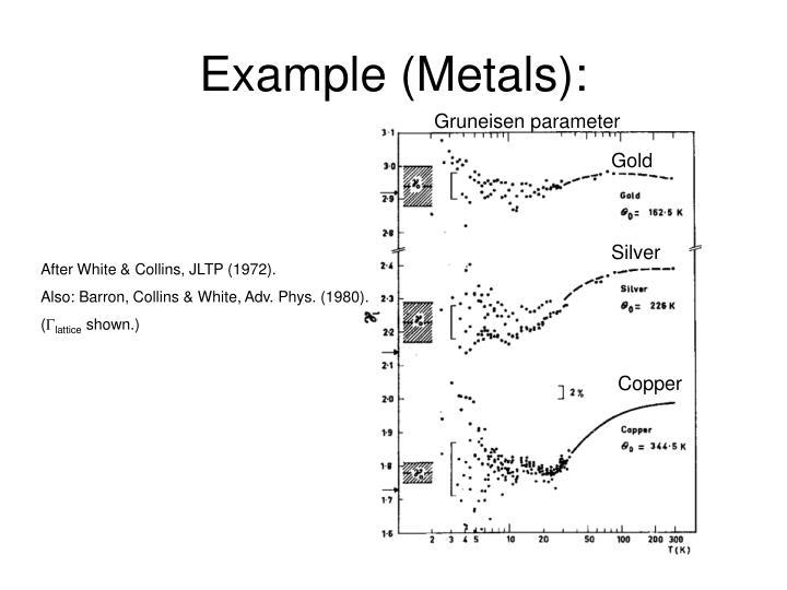 Example (Metals):