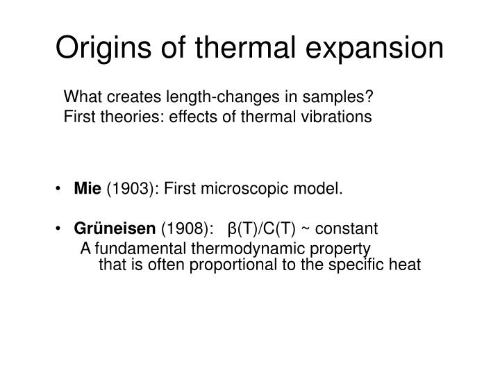Origins of thermal expansion