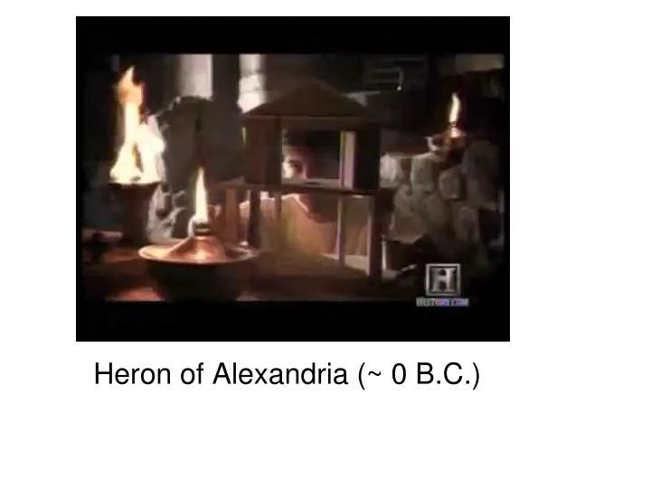 Heron of Alexandria (~ 0 B.C.)