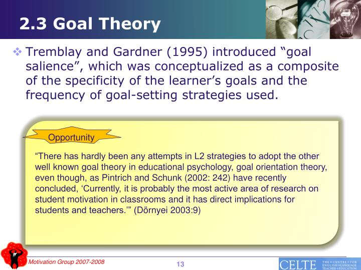 2.3 Goal Theory
