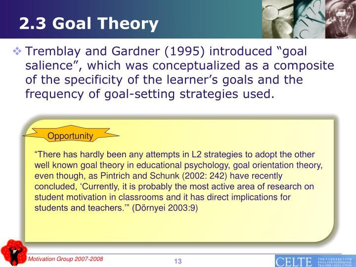 2.3 Goal Theory