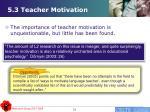 5 3 teacher motivation