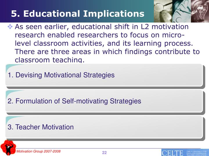 1. Devising Motivational Strategies