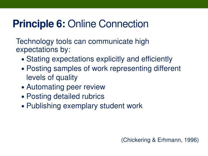 Principle 6:
