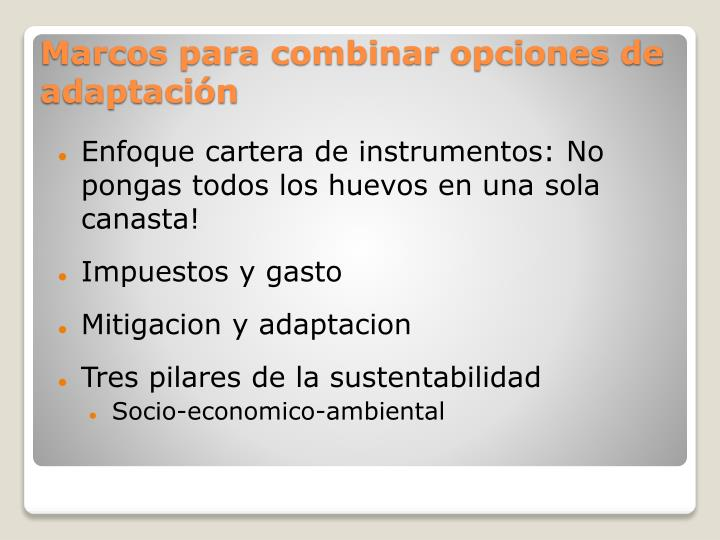 Enfoque cartera de instrumentos: