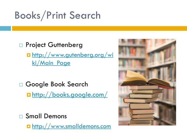 Books/Print Search
