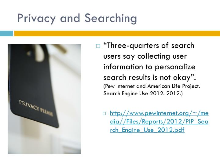 Privacy and Searching