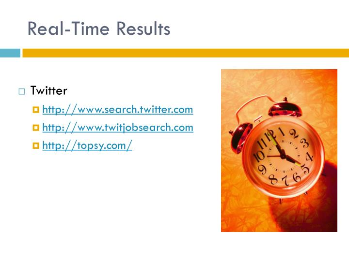 Real-Time Results