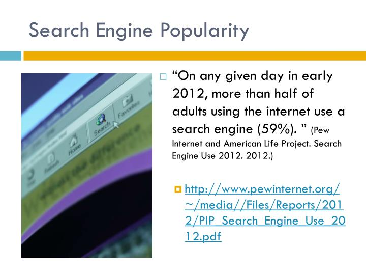 Search Engine Popularity