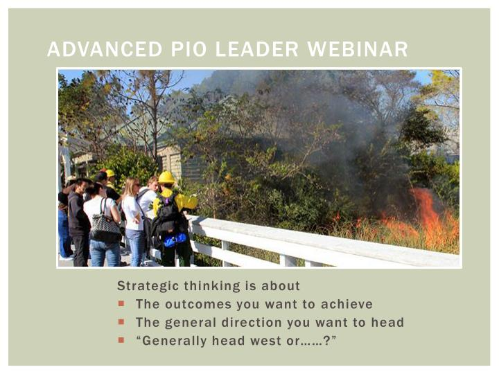 Advanced PIO Leader Webinar