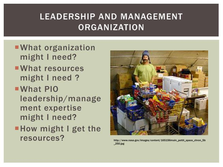 Leadership and Management Organization