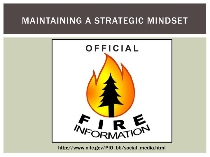 Maintaining a Strategic Mindset
