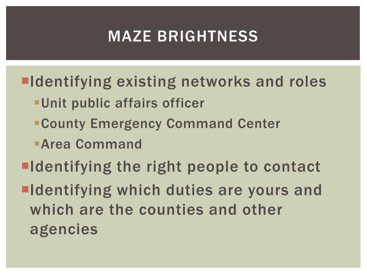 Maze Brightness