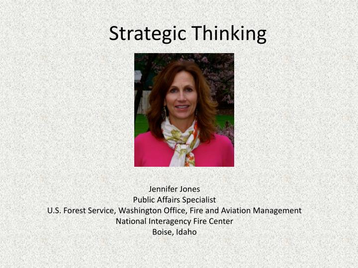 Strategic thinking1