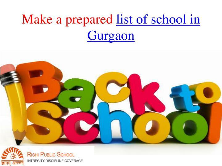 Make a prepared