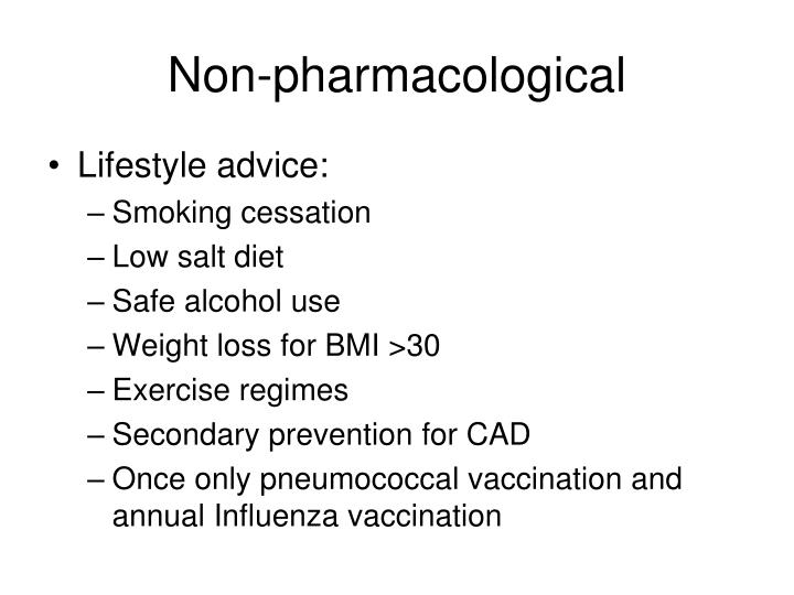 Non-pharmacological