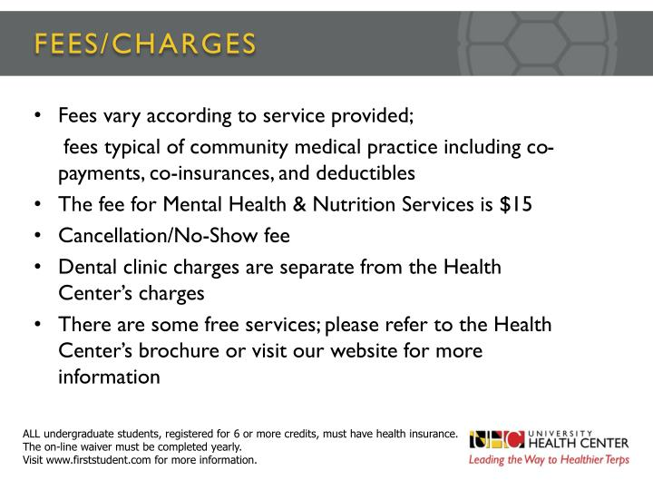FEES/CHARGES