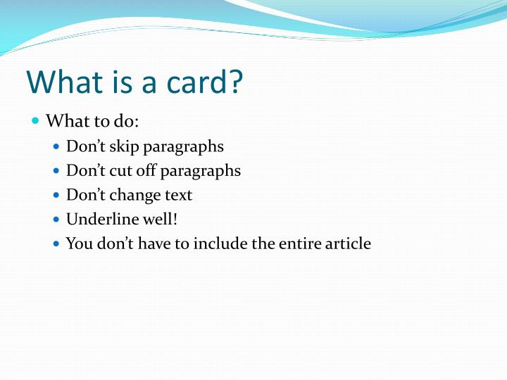 What is a card?