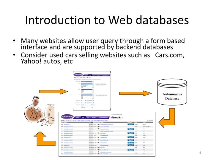 Introduction to Web databases