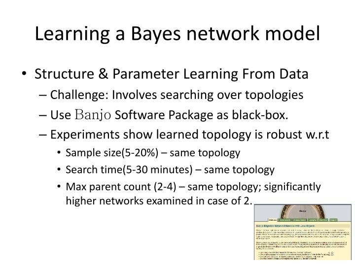 Learning a Bayes network model