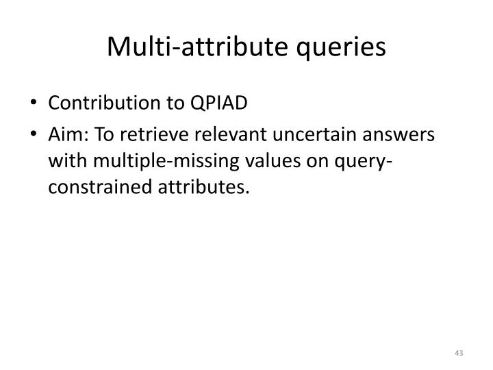 Multi-attribute queries
