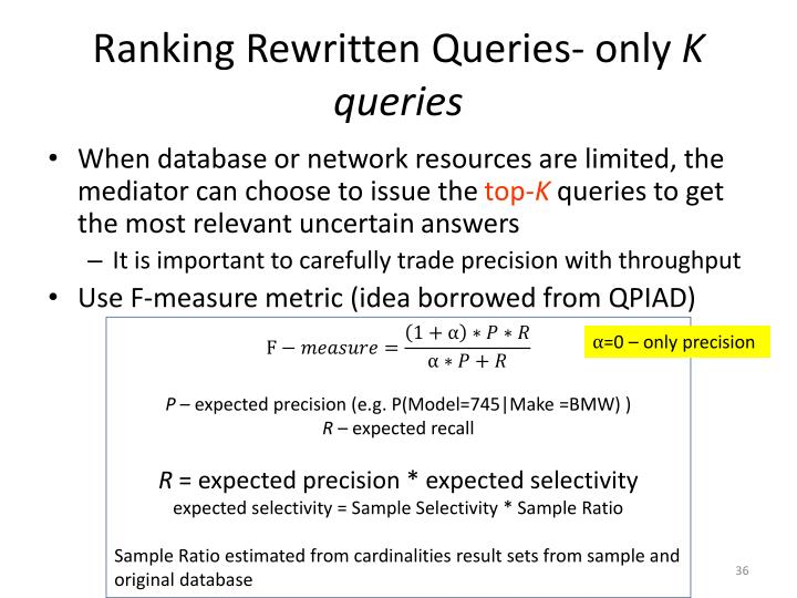 Ranking Rewritten Queries- only
