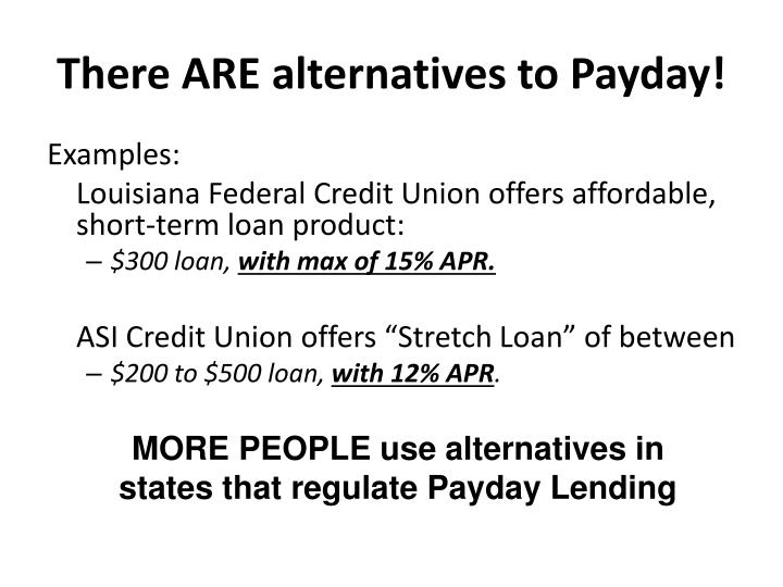 There ARE alternatives to Payday!