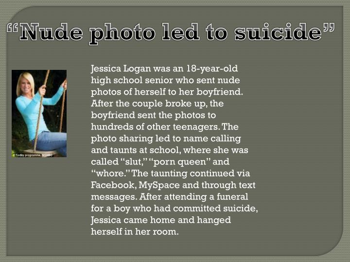 """Nude photo led to suicide"""