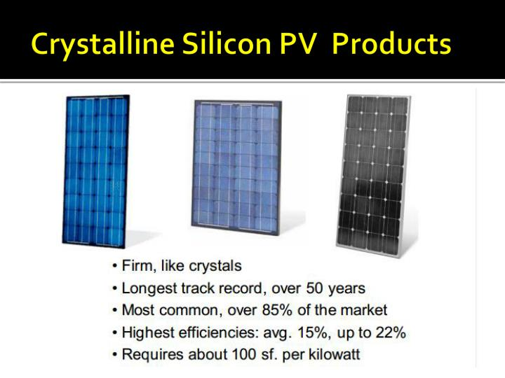 Crystalline Silicon PV