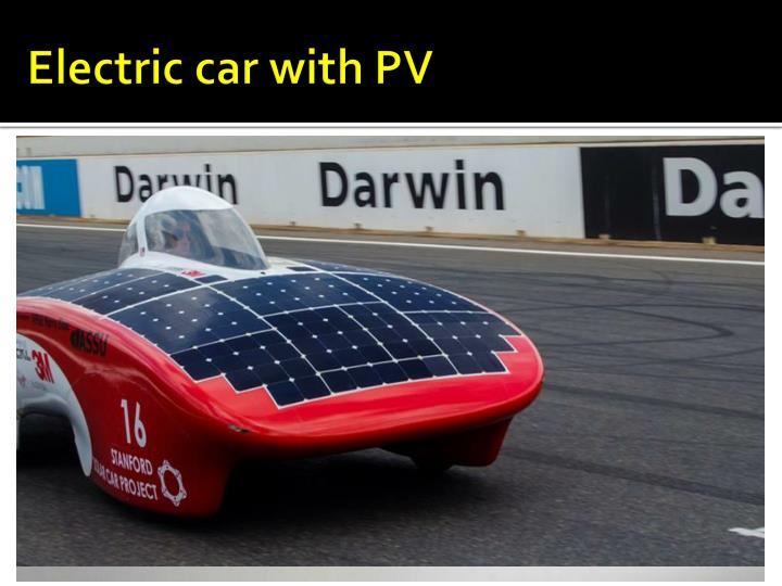 Electric car with PV