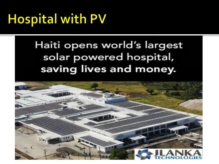 Hospital with PV