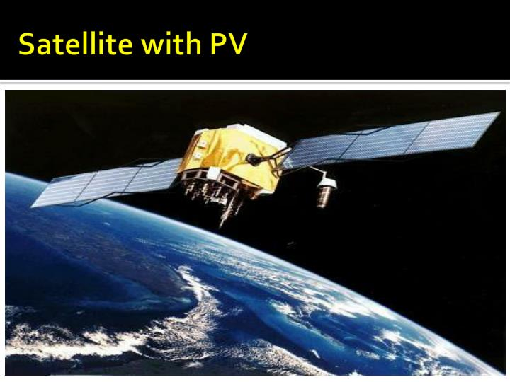 Satellite with PV